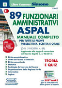 Libri per il concorso ASPAL 2018 in Sardegna