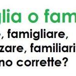 Come si scrive: famiglia o familia? Familiare o famigliare?